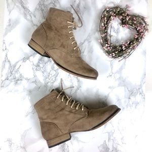 Cathy Jean Faux Suede Ankle Booties Girls